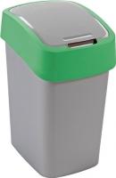 Мусорное ведро Curver Flip Bin 02171-P80-00 / 190173 (25л, серебристый/зеленый) -