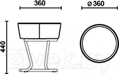 Табурет Nowy Styl Pinacolada Chrome (V-18) - размеры