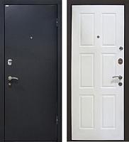 Входная дверь МеталЮр М21 Черный бархат/белый (86x205, правая) -