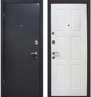 Входная дверь МеталЮр М21 Черный бархат/белый (96x205, левая) -