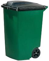Контейнер для мусора Curver Refuse Bin 05183-532-65 / 175846 (100л, черный/зеленый) -