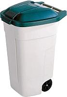 Контейнер для мусора Curver Refuse Bin 12900-158-01 / 176805 (бежевый/зеленый ) -