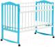 Детская кроватка Bambini М.01.10.09 (белый/голубой) -