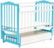 Детская кроватка Bambini М.01.10.10 (бело-голубой) -