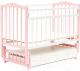 Детская кроватка Bambini М.01.10.10 (бело-розовый) -