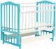 Детская кроватка Bambini М.01.10.11 (белый/голубой) -