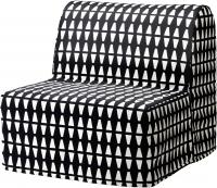 Чехол на кресло-кровать Ikea Ликселе 203.245.79 (черный/белый) -