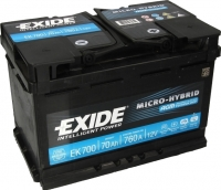 Автомобильный аккумулятор Exide Hybrid AGM EK700 (70 А/ч) -