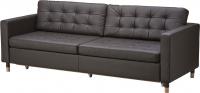 Диван Ikea Ландскруна 191.669.86 (темно-коричневый/дерево) -