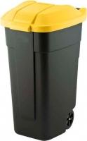Контейнер для мусора Curver 12900-224-60 / 214128 (110л, черный/желтый) -