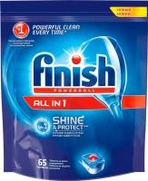 Таблетки для посудомоечных машин Finish All in One Shine & Protect (65шт) -