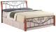 Полуторная кровать Signal Parma 140x200 (античная черешня/черный) -