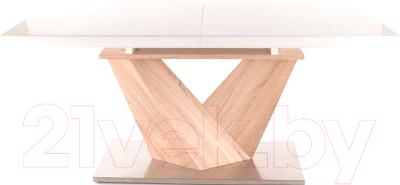 Обеденный стол Signal Alaras 160-220x90 (белый/дуб сонома)