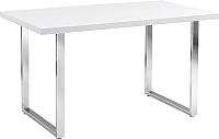 Обеденный стол Signal Ring (белый лак/хром) -