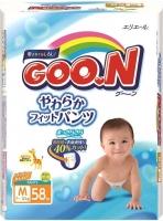 Подгузники-трусики детские Goo.N M 7-12кг (58шт) -
