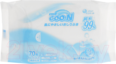 Влажные салфетки детские Goo.N Для младенцев (70шт)