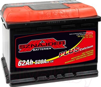 Автомобильный аккумулятор Sznajder Plus 62 R низкий / 562 58