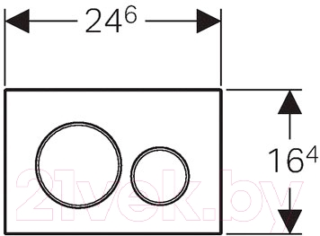 Кнопка для инсталляции Geberit Sigma 01 115.770.11.5 - схема