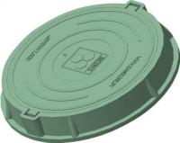 Люк канализационный Сандкор Тип Л 30кН (зеленый) -