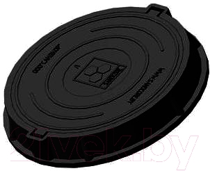 Люк канализационный Сандкор Тип Л 30кН (черный)
