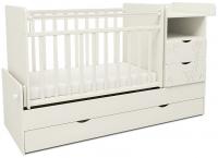 Детская кровать-трансформер СКВ Жираф / 550031 / 550041 (белый) -