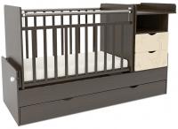 Детская кровать-трансформер СКВ Жираф / 550038-9 / 550048-9 (венге/бежевый) -