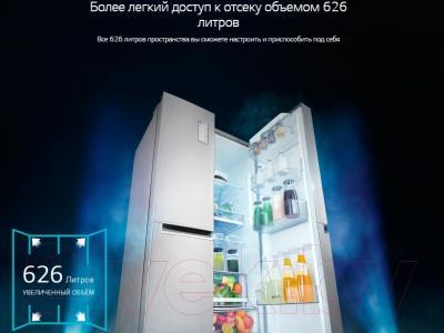 Холодильник с морозильником LG GC-B247SMUV