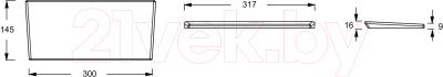 Подголовник для ванны Jacob Delafon Elite E6D061-MN (серый)