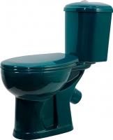 Унитаз напольный Оскольская керамика Дора (зеленый) -