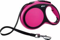 Поводок-рулетка Flexi New Comfort S 5m (ремень розовый) -