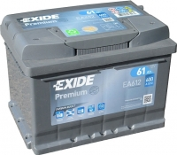 Автомобильный аккумулятор Exide Premium EA612 (61 А/ч) -