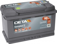 Автомобильный аккумулятор Deta Senator3 DA900 (90 А/ч) -