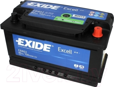 Автомобильный аккумулятор Exide Excell EB802