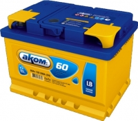 Автомобильный аккумулятор AKOM 6СТ-60 Евро / 56000000н (60 А/ч) -