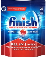 Таблетки для посудомоечных машин Finish All in One Max (25шт) -