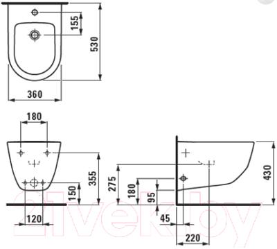 Биде подвесное Laufen Pro 8309520003021