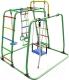 Детский спортивный комплекс Формула здоровья Игрунок-Т Плюс (зеленый/радуга) -
