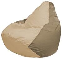Бескаркасное кресло Flagman Груша Макси Г2.1-136 (светло-бежевый/темно-бежевый) -