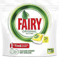 Капсулы для посудомоечных машин Fairy All in One Лимон (24шт) -