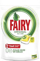 Капсулы для посудомоечных машин Fairy All in One Лимон (60шт) -