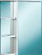 Шкаф с зеркалом для ванной Акваль Эмили 55 / AL.04.55.00.R -