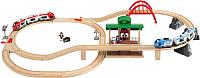 Железная дорога игрушечная Brio Железная дорога двухуровневая с вокзалом 33512 -