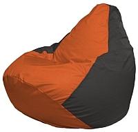 Бескаркасное кресло Flagman Груша Мини Г0.1-210 (оранжевый/темно-серый) -