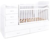 Детская кровать-трансформер Bambini М.01.10.01 (белый) -