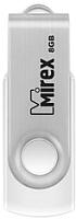 Usb flash накопитель Mirex Swivel White 8GB / 13600-FMUSWT08 -