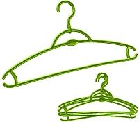 Набор вешалок-плечиков York 5шт (зеленый) -