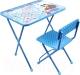 Комплект мебели с детским столом Ника КП2/18 Маша и Медведь. Азбука 4 (голубой) -