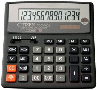 Калькулятор Citizen SDC-640 II