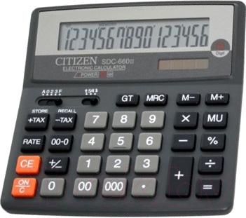 Калькулятор Citizen SDC-660 II