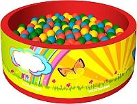 Игровой сухой бассейн Romana Летняя сказка ДМФ-МК-02.50.00 (150 шариков, красный) -